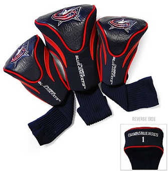 Set of 3 Columbus Blue Jackets Golf Headcovers