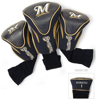Set of 3 Milwaukee Brewers Golf Headcovers
