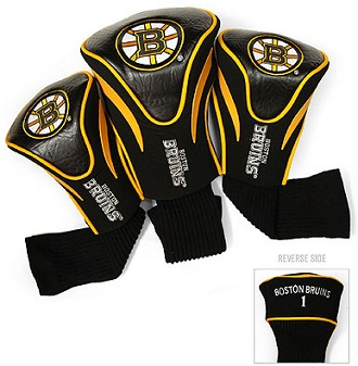 Set of 3 Boston Bruins Golf Headcovers