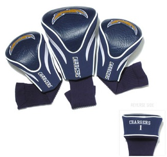 Set of 3 San Diego Chargers Golf Headcovers