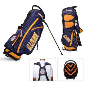 University of Illinois Carry Stand Golf Bag