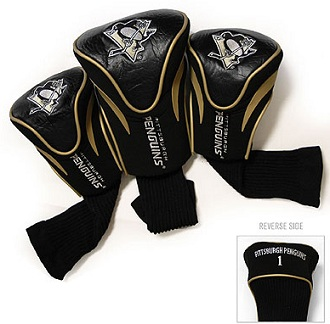 Set of 3 Pittsburgh Penguins Golf Headcovers
