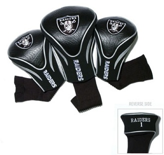 Set of 3 Oakland Raiders Golf Headcovers