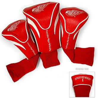 Set of 3 Detroit Red Wings Golf Headcovers