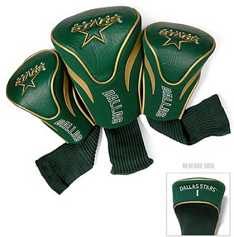 Set of 3 Dallas Stars Golf Headcovers