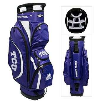 TCU Horned Frogs Clubhouse Cart Golf Bag