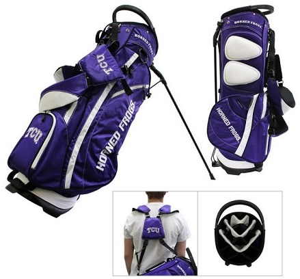 TCU Horned Frogs Carry Stand Golf Bag