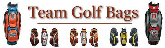 Collegiate College Golf Cart Cooler Bags and Stand Bags by Team Golf